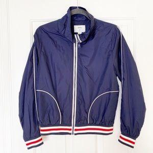 Forever 21 Red White and Blue Stripe Bomber Jacket